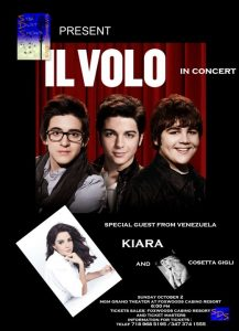 Il Volo, 2nd October 2011