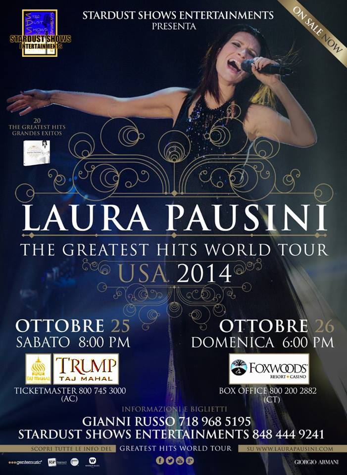 Laura Pausini, 26th & 27th October 2014