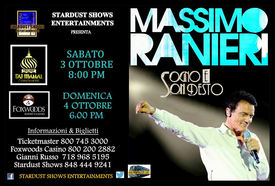 Massimo Ranieri, 3th & 4th October 2015
