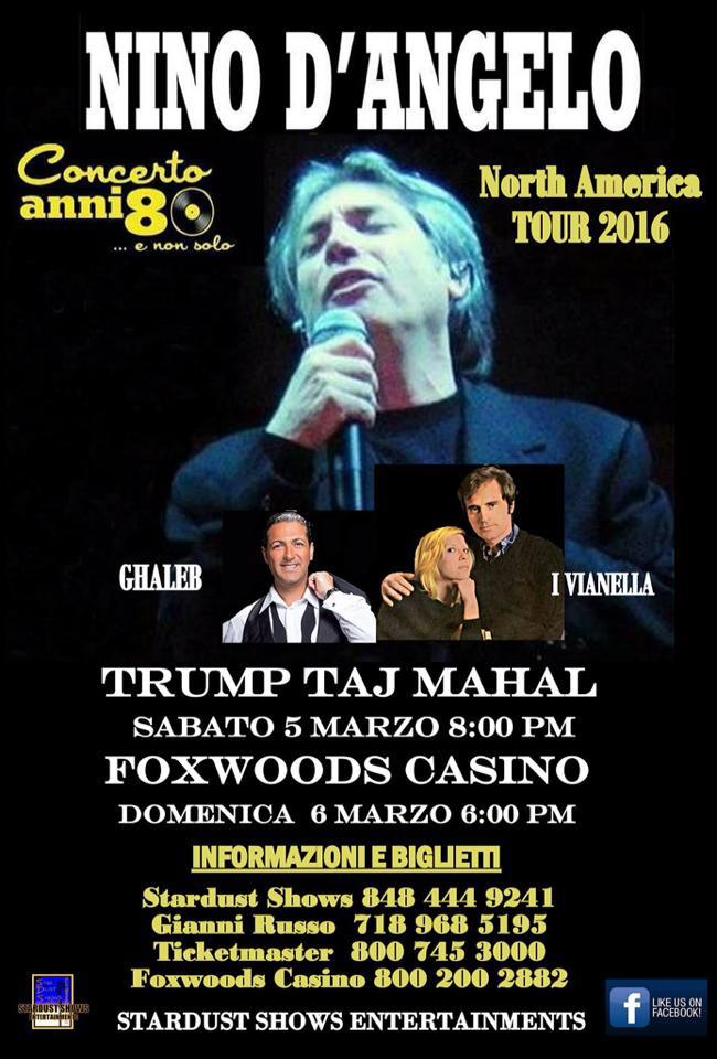 Nino D Angelo, 5th & 6th March 2016