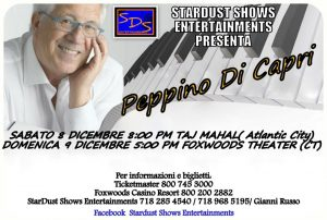 Peppino Di Capri, 8th and 9th December 2012
