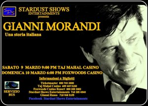 Gianni Morandi, 9th & 10th March 2013