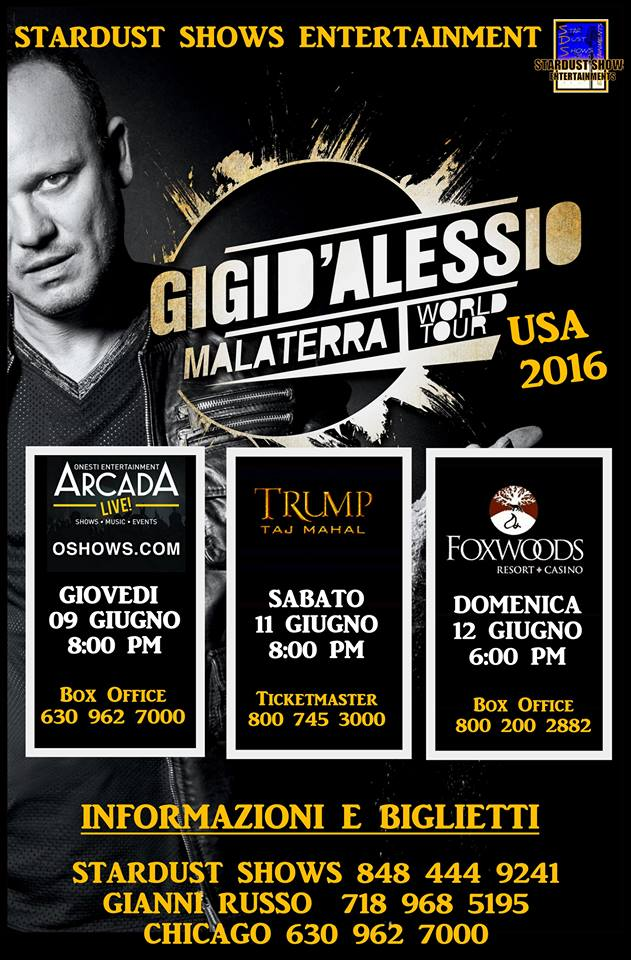 Gigi D´ Alessio, 11th & 12th june 2016