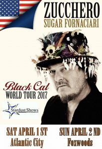 Zucchero Black Cat Tour, 1st and 2nd April 2017